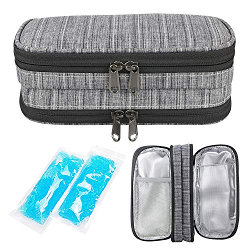 Youshares Insulin Cooler Travel Case Double Layer Handy